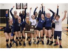 The HCA girls volleyball team wins the 2016 IHSA Sectional Title, their 6th consecutive Sectional Championship.