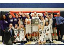 HCA girls basketball team wins 2017 IHSA Super-Sectional, advancing to state finals for first time. 