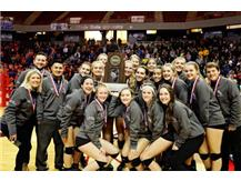 The HCA girls volleyball team takes 4th place at the 2017 IHSA State Finals.