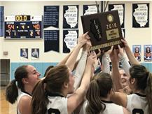 HCA girls basketball team wins the 2018 IHSA Class 2A Sectional title, advancing to the Elite 8 for 3rd time in past 4 years.  WE ARE LIONS