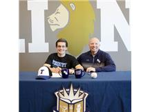 HCA Senior Dominik Olech signs letter of intent to play Baseball at Trinity International University.