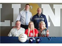 HCA Senior Hannah Griffith signs letter of intent to play volleyball at Benedictine University.