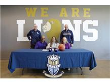 HCA Senior Alyssa Iverson signs a national letter of intent to play Basketball for the University of Northern Iowa.   WE ARE LIONS