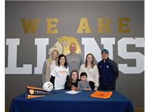 HCA Volleyball Setter, Kaitlin Murray signs to NCAA D3 Greenville in Illinois. WE ARE LIONS