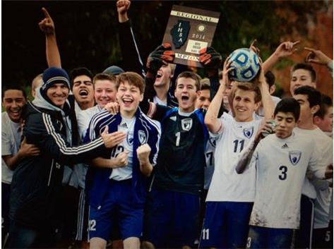 2014 HCA boys soccer team makes history by winning their first Regional title.