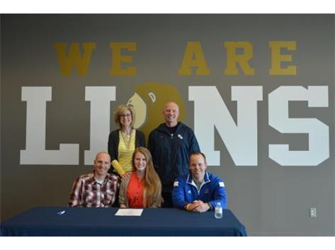 Morgan Lockwood signs national letter of intent to play soccer for Trinity International University.