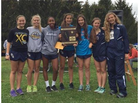 The HCA girls cross country team wins the 2015 IHSA Regional Championship, the first in program history.  WE ARE LIONS