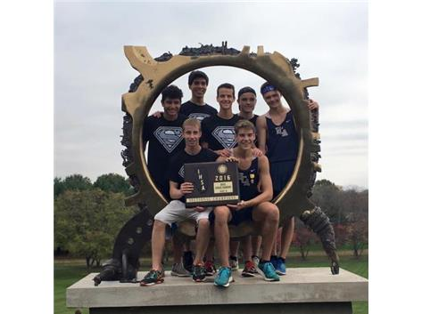The HCA boys cross country team wins the 2016 IHSA Sectional Championship, advancing to state finals for 4th straight year.