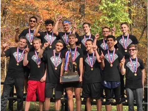 The 2016 HCA boys cross country team wins the IHSA State Championship, the first in HCA history.  