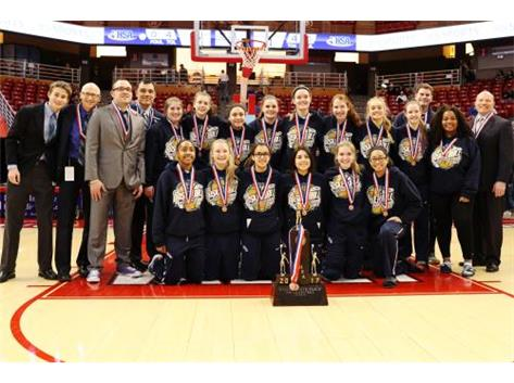 HCA girls basketball team takes 4th Place in the 2017 IHSA State Finals.  WE ARE LIONS