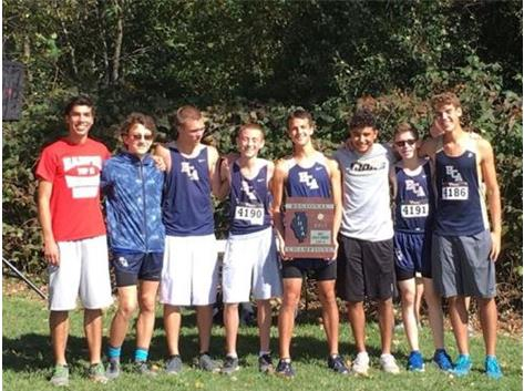 The HCA boys cross country team wins the 2017 Regional Title, their 4th consecutive.  