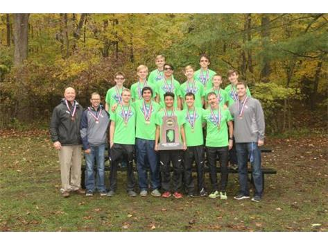 The HCA boys Cross Country team takes 3rd Place at the 2017 IHSA State Finals.
