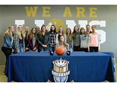 HCA Senior Grace Ringel signs a national letter of intent to play collegiate basketball at Purdue Northwest University.  WE ARE LIONS