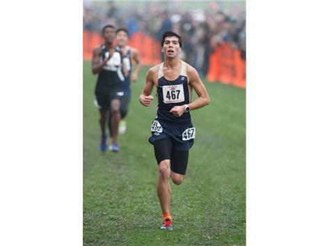 HCA Senior Andrew Dobrescu achieves All-State honors for the 2nd straight year by finishing 25th at the 2017 IHSA Cross Country state finals.