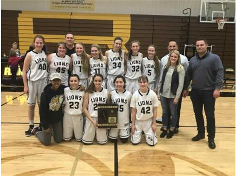 HCA girls varsity basketball team wins 2018 IHSA Class 2A Regional championship, their 4th consecutive Regional Title.