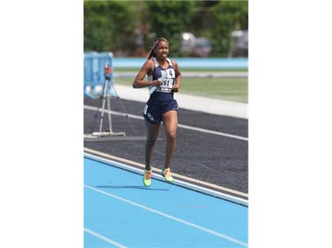 HCA Senior Nygia Pollard caps a great career with a 3rd Place finish in the 3200M race on Saturday, to achieve All-State status for the 2nd year in a row in Track and Field