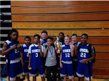 The 7th grade basketball team took 3rd place in the City of Lights tournament.