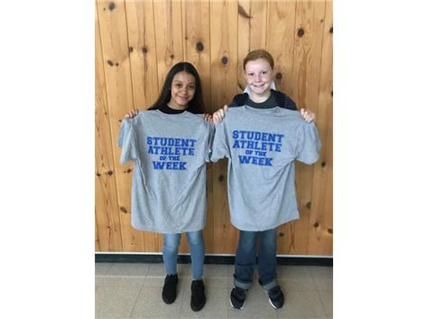 Student athlete of the week for 7th volleyball and 8th volleyball!