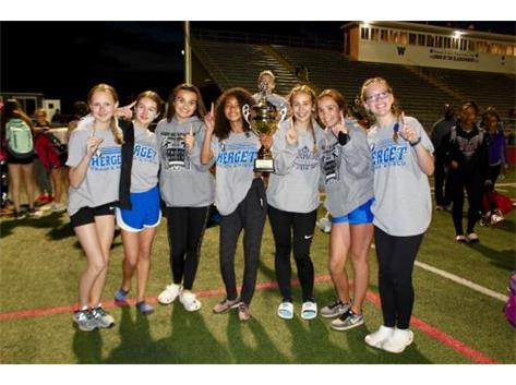 Girls first place in track City of Lights!