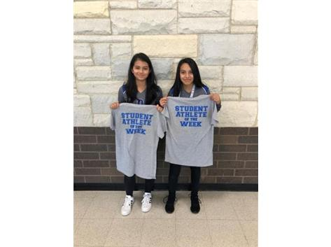 Student athlete of the week winners for 7th volleyball!