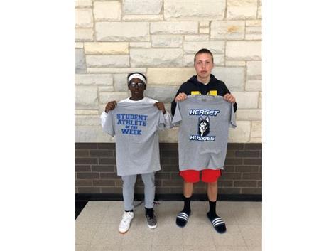 Student athletes of the week for football!