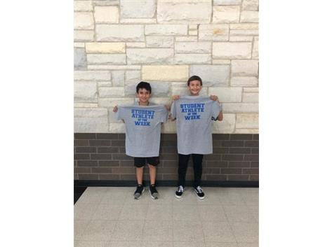 Student athletes of the week for boys soccer!