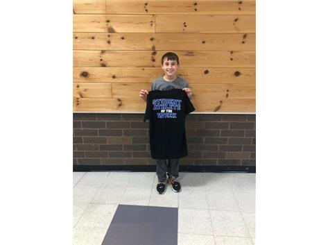 Student athlete of the week for 7th basketball!