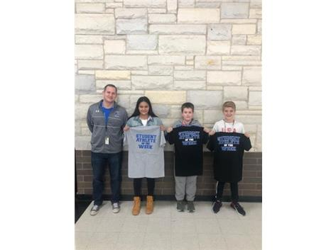 Student athletes of the week for wrestling!
