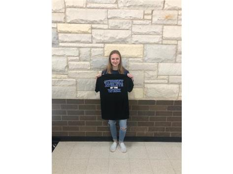 Student athlete of the week for cheerleading!