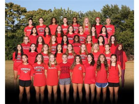 2020 Girls Cross Country Team