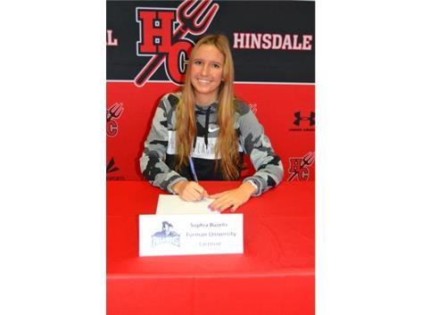 Congratulations Sophia Buzelis! Sophia will be playing lacrosse at Furman University!