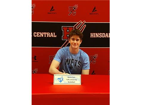 Congratulations Quinn Cain! He will be playing basketball at Tufts University!