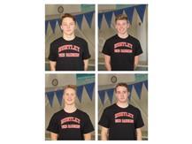 Kacper Cebula, Luke Vandy, Ben Rocks, Max Hagbery - Boys Swimming - Culver's of Huntley Athlete's of the Week - Week of 2/17/20 to 2/23/20