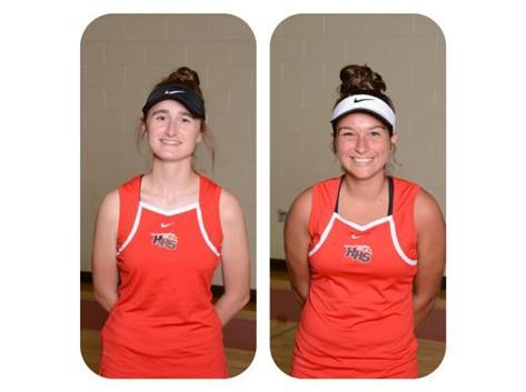 Kayley Roche (2018) and Alex Landman (2018) - Varsity Girls Tennis - Culver's of Huntley HHS Athlete of the Week - Week of 10/9/17