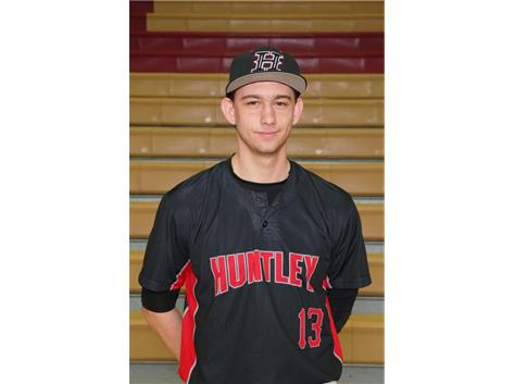 Varsity Baseball 's Kyle Morgan is this week's Culver's of Huntley HHS Athlete of the Week.  During the week as a varisty player, Kyle pitched five innings with a 0.0 ERA, 4 total combine hits, and 9 strikeouts to help the Red Raiders defeat Crystal lake Central.
