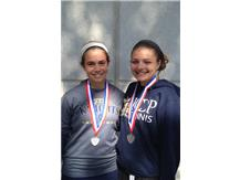 Chiara Gaudio & Kelly Hodyl displaying their SCC Conference 2nd Place Medals