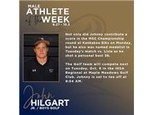 Johnny Hilgart named Male Athlete of the Week (9.27)