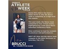 Sr. Nina Brucci named Female Athlete of the Week (Feb 14)