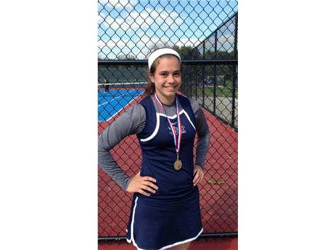 Congratulations to Chiara Gaudio on winning the MSC Conference Tennis Championship in 2nd Singles.