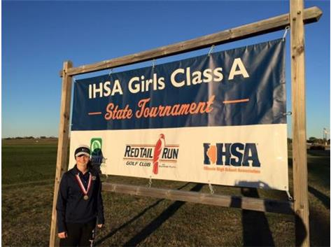 IHSA Class 1A Girls Golf 2015 State Champion, Maddie Hurt!