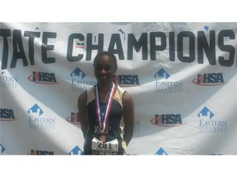 Freshman Jaida Smith 5th Place in IHSA State Triple Jump
