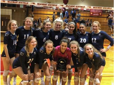 2019 Varsity Volleyball Team won the Timothy Christian/Westmont Invite!