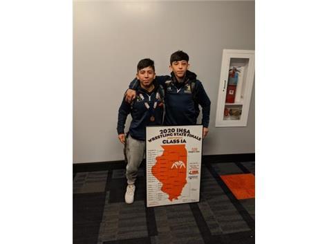 2020 IHSA State Medalists! Nicholas Renteria and Saul Trejo Jr!