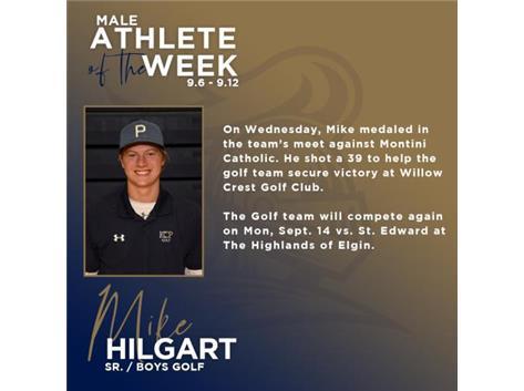 Michael Hilgart named Male Athlete of the Week (9.6)