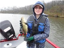 "Catherine Drake 13.5"" Large Mouth Bass (Catherine's 2nd Bass of the session)."