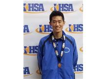 Congratulations to senior Daniel Chen for placing 8th at the IHSA class 2A boys Cross Country state finals in Peoria.
