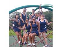 2019 Girls Tennis team after a great win vs. Woodlands Academy