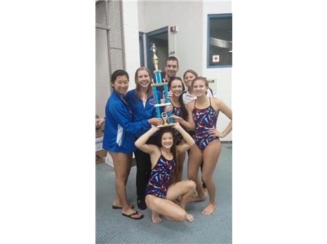 IMSA / Yorkville Co-Op Swim / Dive Invite (2014) - First Place Trophy