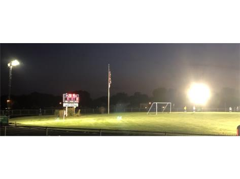 The first ever night homecoming soccer game.