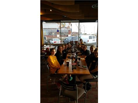 First Team Pasta Party at Noodles